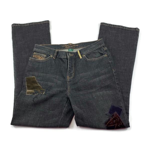 Ralph Lauren jeans distressed patch work denim
